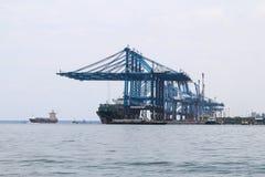 Schiffe bei Northport, Klang, Malaysia Stockbilder