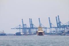 Schiffe bei Northport, Klang, Malaysia - Reihe 4 Stockbilder