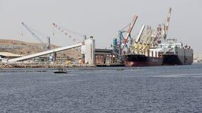 Schiffe in Elat-` s tragen, Israel APRIL, 29-2017 Lizenzfreie Stockfotografie