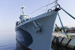 Schiffe festgemacht im Hafen Lizenzfreie Stockbilder