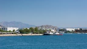Schiffe im Hafen von Antalya, Ansicht Stockfoto
