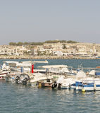 Schiffe im Hafen von Rethymnon.Krete Stockfotografie