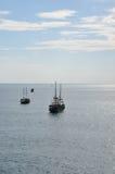 Schiffe in Meer Stockfotografie