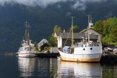 Schiffe, Norwegen Stockfotos