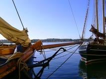 Schiffe in Svendborg Stockbilder