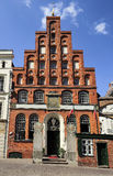 Schiffergesellschaft  building with crow-stepped gable, Lubeck, Royalty Free Stock Photography