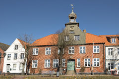 Schifferhaus Toenning. Image of the famous Schifferhaus in Toenning, Northern Germany royalty free stock image