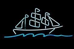 Schiffs-Neonlicht Stockfoto