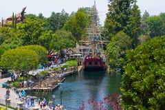 Schiffs-Replik-Vogelperspektive Disneylands Kolumbien lizenzfreies stockbild