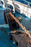 Schiffsankerkette Malta lizenzfreie stockfotos