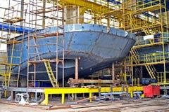 Schiffsbau Stockfoto