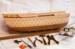 Schiffsmodell Stockfotos