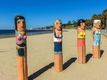 Schiffspoller auf dem Strand in Geelong Stockfotografie