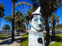 Schiffspoller und Riesenrad herein Geelong Lizenzfreie Stockbilder