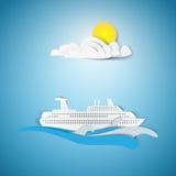 Schiffsreisepapier-Ausschnittdesign Lizenzfreie Stockbilder
