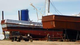 Schiffsreparatur Stockbild