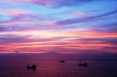 Schiffsschattenbilder. Lizenzfreies Stockbild