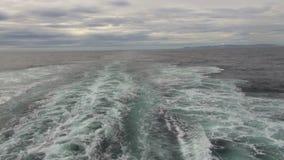 Schiffsspur vor Südamerika-Küste stock footage