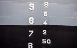 SchiffsWasserspiegelindikator lizenzfreie stockfotos