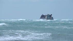Schiffswrack stock video footage