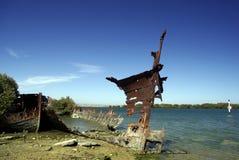 Schiffswrack. Stockbild