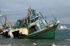 Schiffswrack - Griechenland Stockfoto