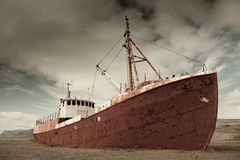 Schiffswrack in Island Lizenzfreies Stockbild