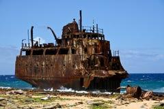 Schiffswrack kleines Curaçao Stockbild