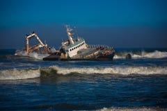 Schiffswrack in Namibia Lizenzfreie Stockfotografie