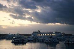 Schiffsyard auf dem Roten Meer am 21. Dezember 2012 Stockfotografie
