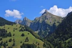 Schijen, montagna nel cantone di Svitto, alpi svizzere Fotografie Stock Libere da Diritti