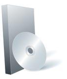 Schijf DVD en doos. Royalty-vrije Stock Foto