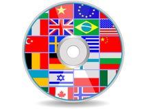 Schijf met vlaggen royalty-vrije illustratie