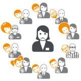 Schijnheiligheid - veinzerij in Internet en sociale netwerken Royalty-vrije Stock Foto