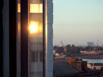Schijnsel het venster stock fotografie