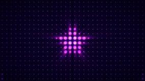 Schijnwerper en muurdans Stadiumlichten in van de muurstroboscopen van de concertzaalscène lichte opvlammende de lichtenlengte vo stock footage