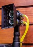 Schijnwerper met een videocamera onderwaterbathyscaphe die wordt gecombineerd royalty-vrije stock fotografie