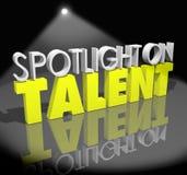 Schijnwerper op Talent Uw Ogenblik om te glanzen Vaardighedencapaciteiten Showca stock illustratie