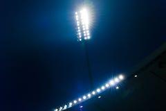 Schijnwerpers in een Stadion Stock Afbeelding