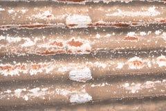 Schil en corrosie op staalplaten stock foto's