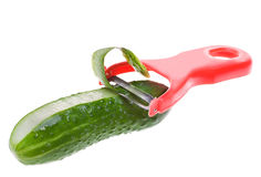 Schil-van een komkommer Royalty-vrije Stock Foto