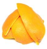 Schil van een sinaasappel royalty-vrije stock afbeeldingen