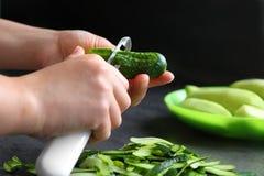 Schil van komkommer Stock Foto's