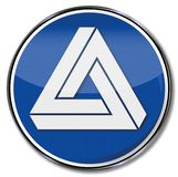 Triangle with illusion. Triangle with a blue optical illusion royalty free illustration