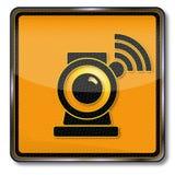 Webcam and internet vector illustration