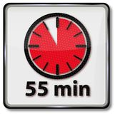 Clock with 55 minutes. Clock with fifty-five minutes royalty free illustration