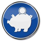 Piggy bank and investment wallet vector illustration