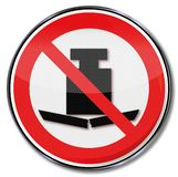 Prohibition sign no heavy load. In this area stock illustration