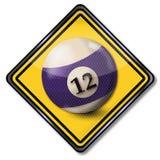 Sign billiard ball number 12 stock illustration