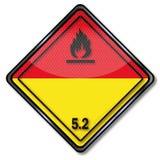 Danger Sign dangerous goods Class 5.2. For transport stock illustration